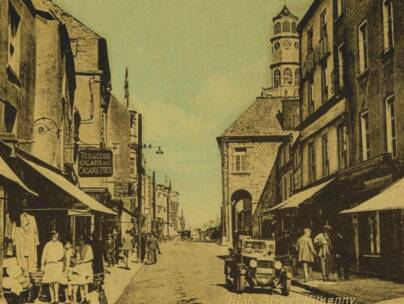 Kilkenny High Street stereoview Circa 1880s